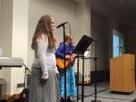 Kristin and Hannah sang a beautiful song!